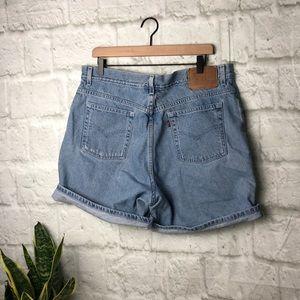Vintage Levi's denim high waisted mom jean shorts